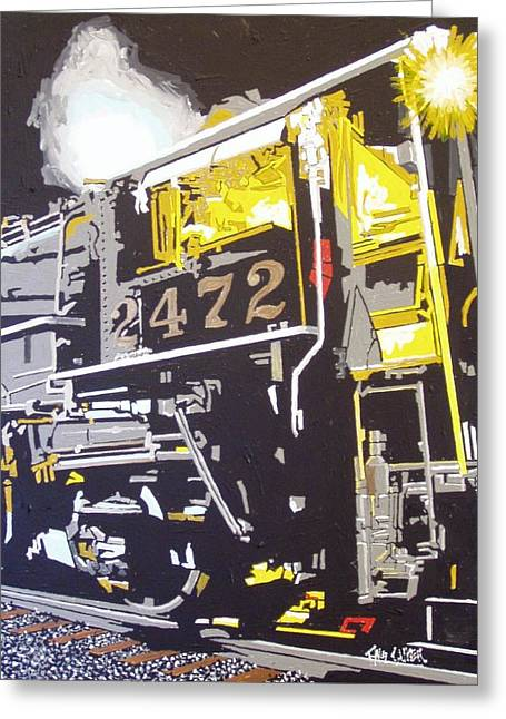 Railroad Museum Greeting Card by Paul Guyer