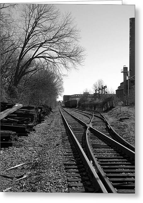 Greeting Card featuring the photograph Railroad Siding by Greg Simmons
