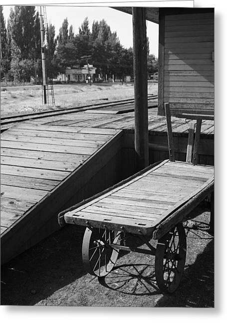 Railroad Station, 1939 Greeting Card