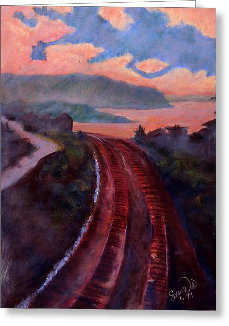 Railroad Greeting Card by Susan Will
