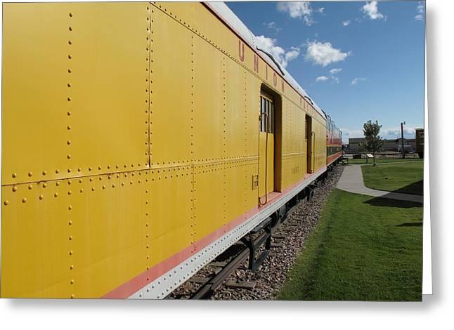 Railroad Train Greeting Card by Frank Romeo