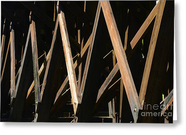 Railroad Trestles Greeting Card by Paul W Faust -  Impressions of Light