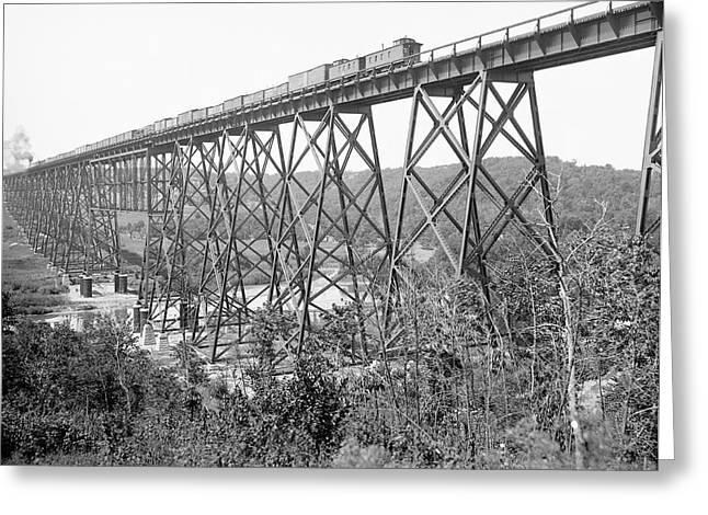 Railroad Viaduct Near Boone Greeting Card