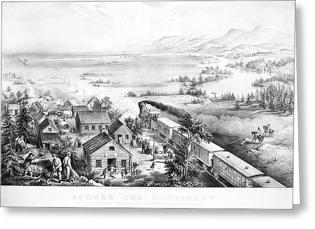 Railroad West, 1868 Greeting Card by Granger