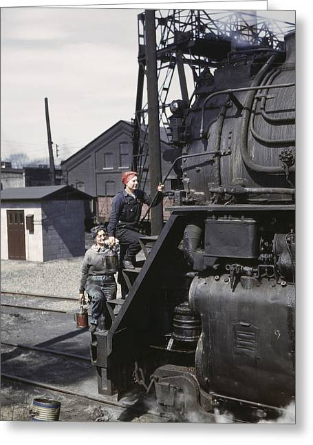 Railroad Workers, 1943 Greeting Card
