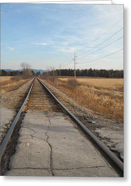 Rails And Lines Greeting Card