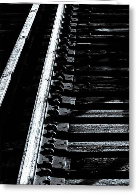 Rails And Ties Greeting Card by Bob Orsillo