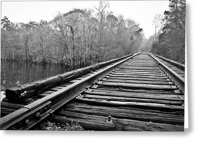 Rails Over Water Greeting Card