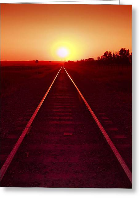 Rails To The Sun Greeting Card
