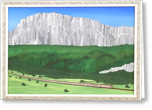 Railway Adventure Greeting Card by Ron Davidson