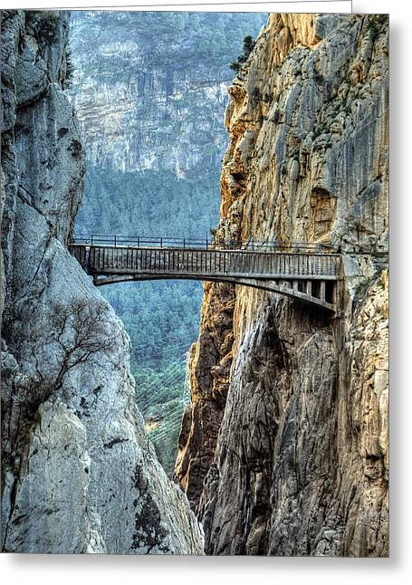 Railway Bridge In El Chorro Greeting Card