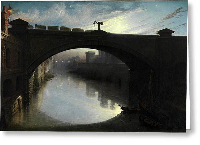 Railway Bridge Over The River Cart, Paisley Signed Greeting Card