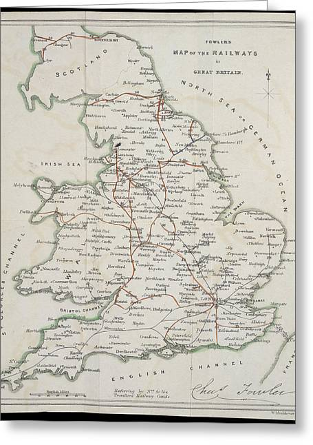Railway Map Greeting Card by British Library