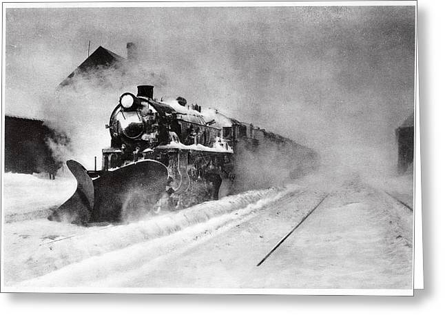 Railway Snow Plough Greeting Card by Cci Archives