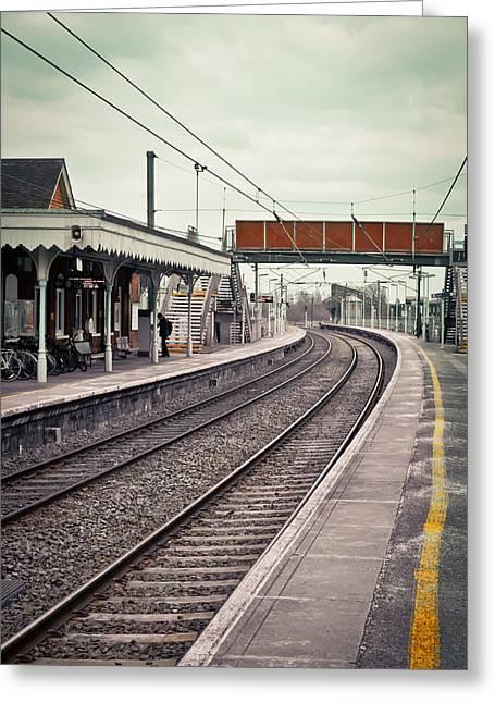 Railway Station Greeting Card by Tom Gowanlock