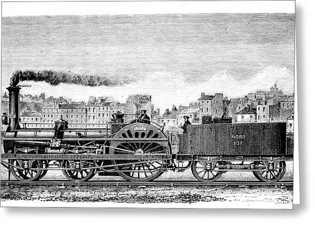Railway Steam Locomotive Greeting Card by Universal History Archive/uig