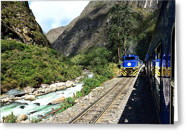 Railway To Machu Picchu Greeting Card