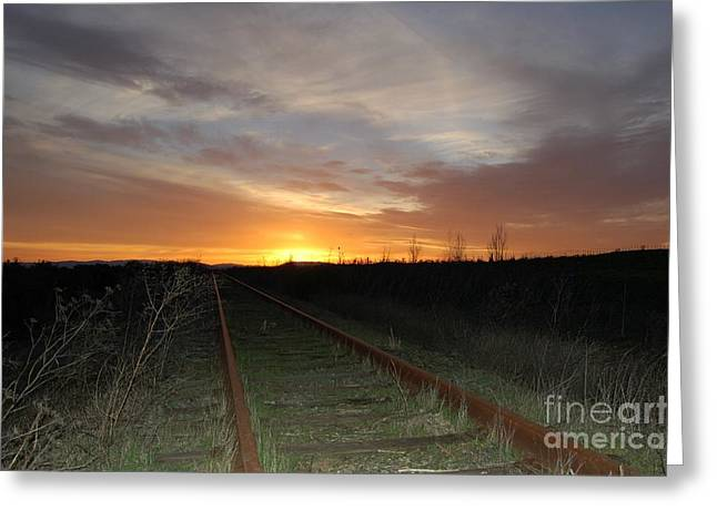 Railway To Wine Country Greeting Card