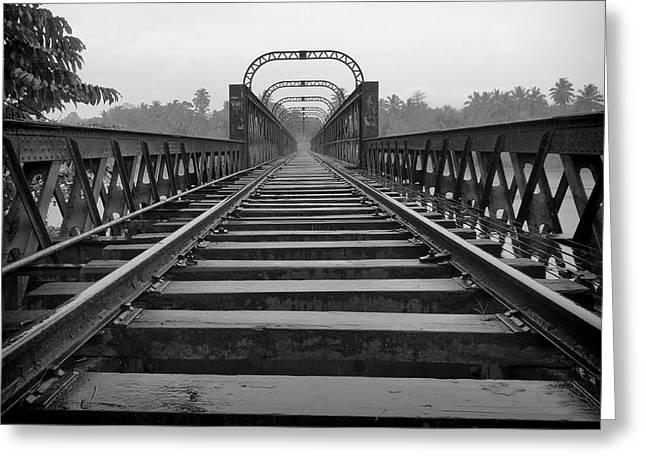 Railway Tracks Greeting Card by Sanjeewa Marasinghe