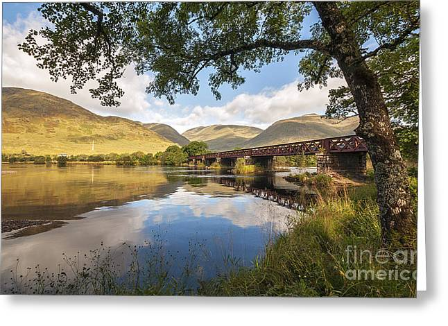Railway Viaduct Over River Orchy Greeting Card