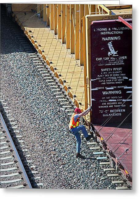 Railway Worker Greeting Card