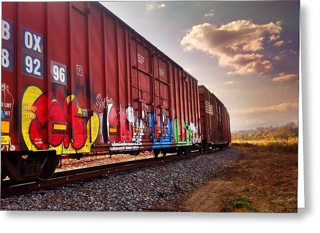 Railways Greeting Card by Janice Spivey