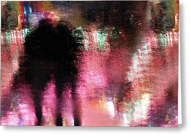 Rain Above The Funfair Greeting Card by Stefan Eisele