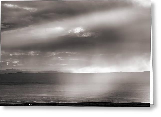 Rain And Light Greeting Card by Leland D Howard