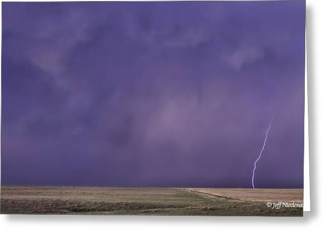 Rain Bolt Greeting Card