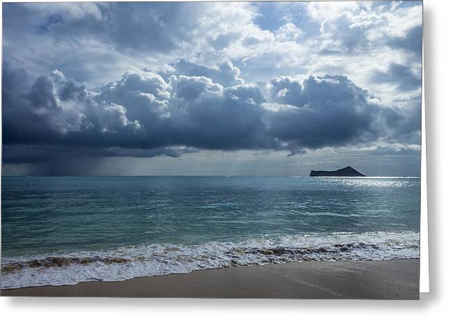 Rain Clouds At Waimanalo Greeting Card