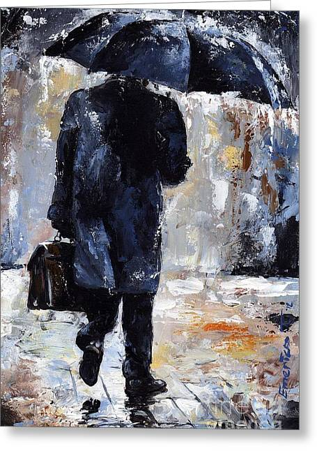 Rain Day #19 Greeting Card by Emerico Imre Toth