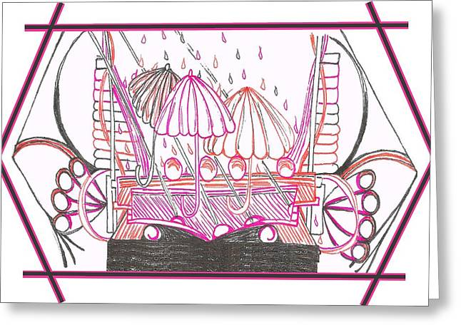 Rain Drops Greeting Card by Becky Sterling