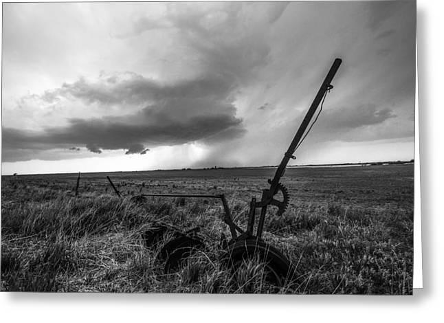 Rain Follows The Plow Greeting Card by Sean Ramsey