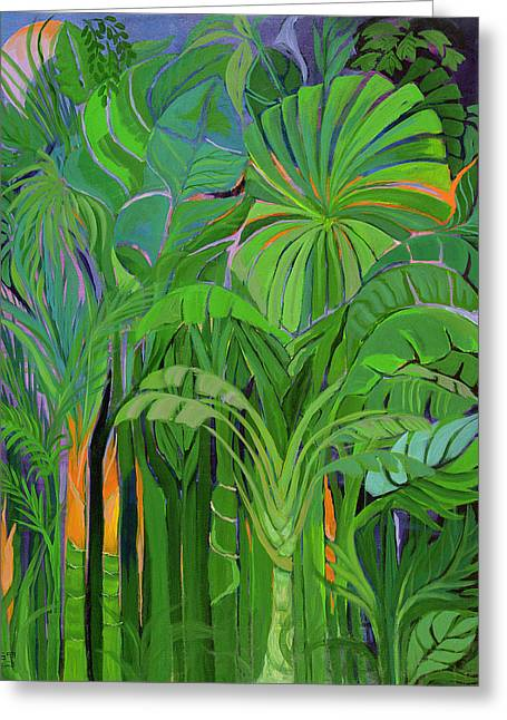 Rain Forest Malaysia Greeting Card by Laila Shawa