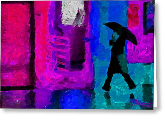 Rain In January Tnm Greeting Card by Vincent DiNovici