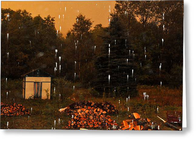 Rain In The Adirondacks Greeting Card