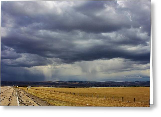Rain In Wyoming Greeting Card by Bruce Bley