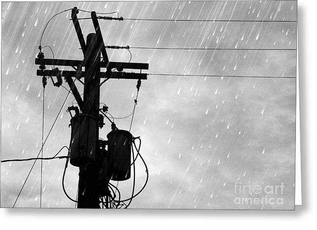 Rain Greeting Card by Jennifer Kimberly