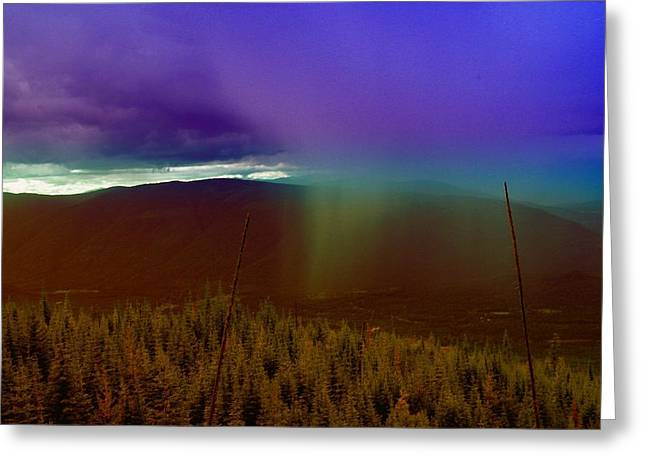 Rain North Of Bonners Ferry Greeting Card by Jeff Swan