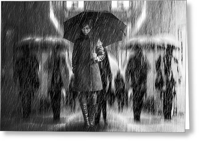 Rain Of Sadness Greeting Card