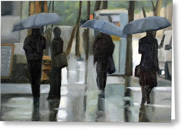 Rain On Saint Germain Greeting Card