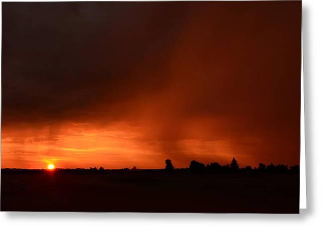 Rain Squall Sunrise Greeting Card