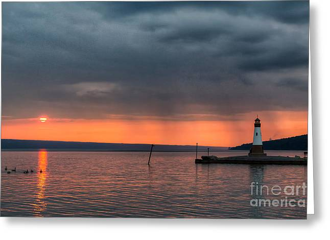 Rain To The North Greeting Card by Michele Steffey