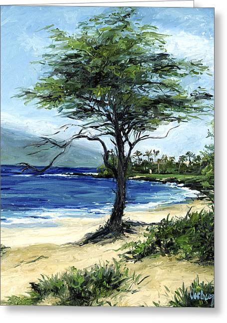 Rain Tree Greeting Card by Stacy Vosberg