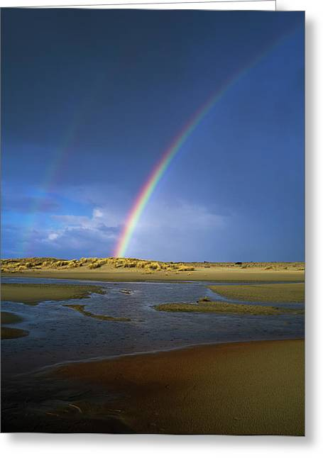 Rainbow Appears Over The Mouth Greeting Card
