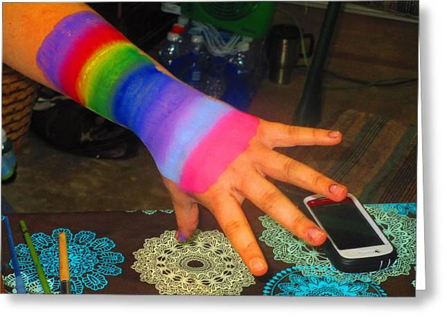 Rainbow Arm Greeting Card