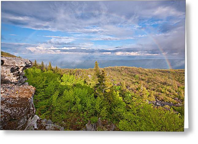 Rainbow At Dolly Sods Greeting Card by Michael Blanchette