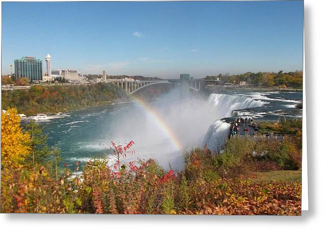 Rainbow At The American Falls Greeting Card