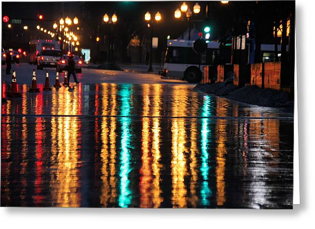 Rainbow Ave Greeting Card by Jerome Lynch