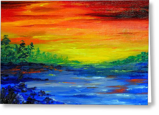 Rainbow Back Waters Greeting Card